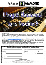 flyer tribute to hammond